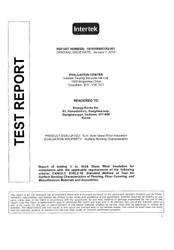 1-page_Insulation-test-report